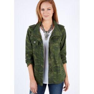 Kersh Safari Jacket Green Camo Military
